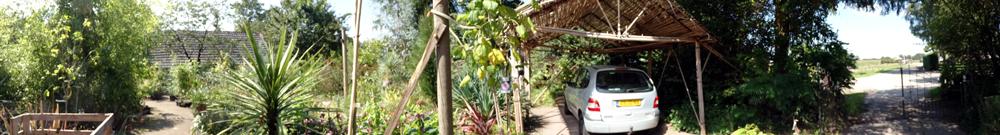 de entree van Kwekerij en botanische tuin De Groene Prins